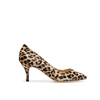 estileto bajo animal print by zara