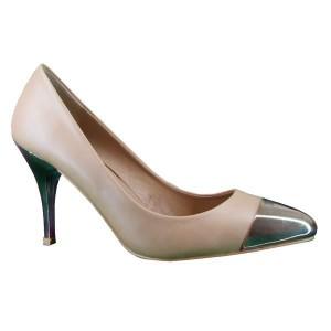zapatos con punta metalizada de mary paz