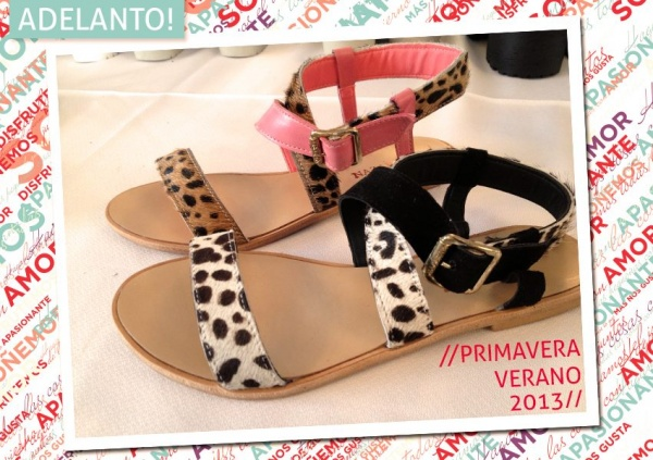 "on "" sandalias animal print nazaria primavera verano 2014"