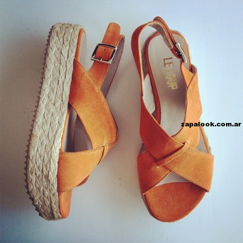sandalias naranja con base Le Loup shoes