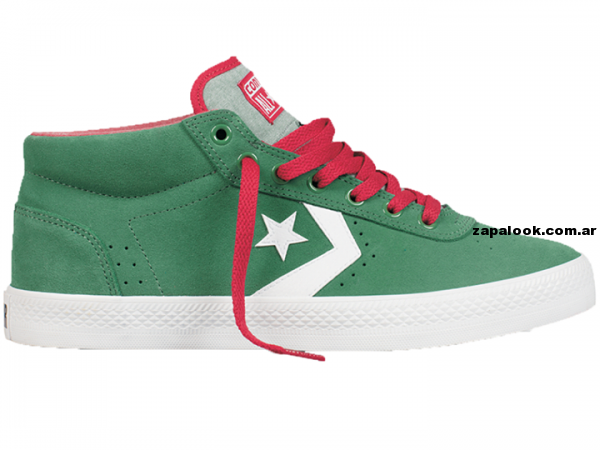 Zapatillas converse All Start verdes y rojas 2014
