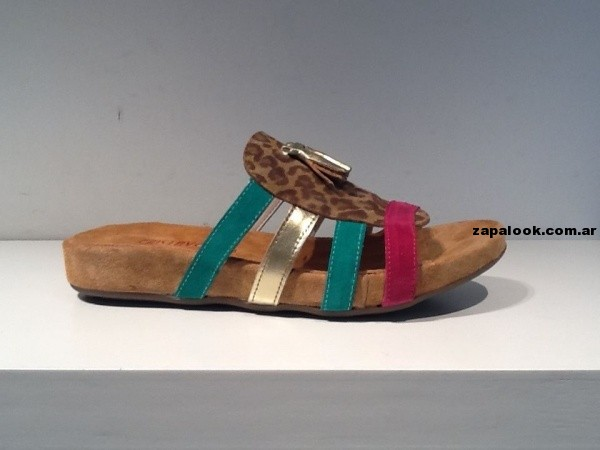 chatitas multicolores con animal print Chennai Shoes verano 2014