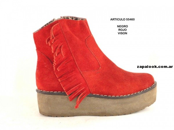 botinetas gamuzadas con base  orange fashion shoes invierno 2014