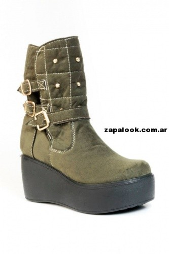bota verde militar NEXT FASHION invierno 2014