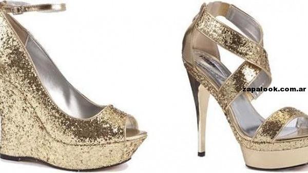 tendencia zapatos dorados priamvera verano 2014