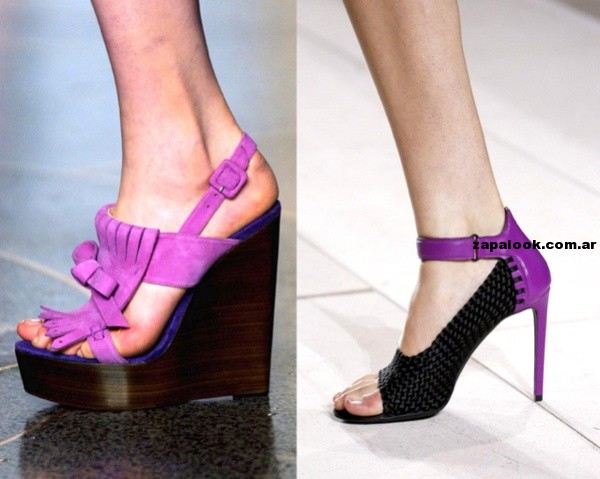 tendencia - zapatos purpura primavera verano 2015