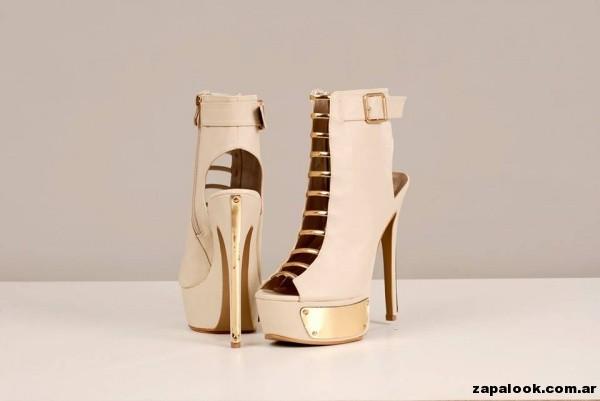 Zapatos crema y dorado Tivoglio Bene primavera verano 2015