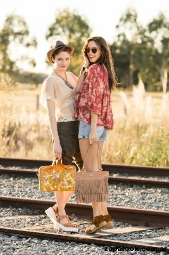 accesorios con flecos  XL extra Large primavera verano 2015