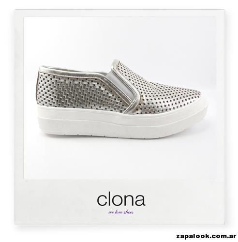 panchas metalizadas Calzado Clona primavera verano 2015