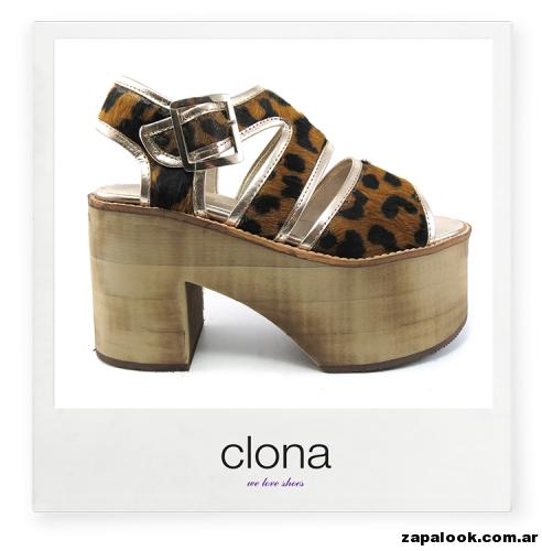 plataforma animal print Calzado Clona primavera verano 2015
