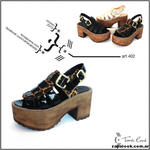 sandalias con plataforma multiples tiras Tomas Cane primavera verano 2015 11a225f168cd
