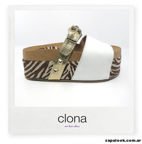 sandalias planas con base Calzado Clona primavera verano 2015