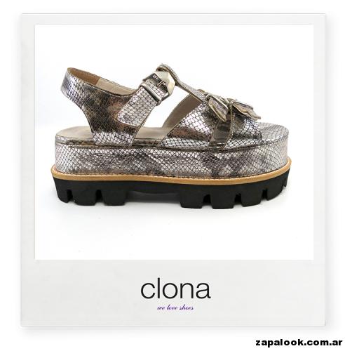 sandalisa planas bases de goma Calzado Clona primavera verano 2015