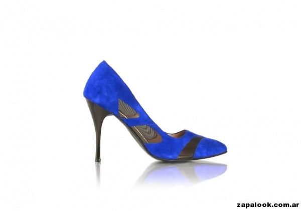 stilettos  azules G valdez primavera verano 2015