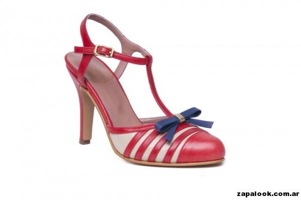 zapato rojo Alfonsina Fal primavera verano 2015