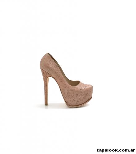 Luciano Marra - Zapatos altos Nude para fiestas 2015