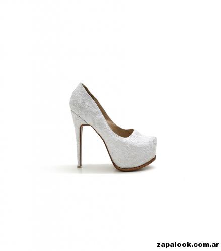 Luciano Marra - Zapatos altos blancos para fiestas 2015