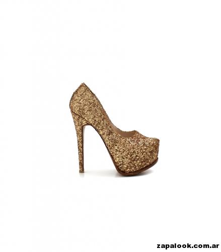 Luciano Marra - Zapatos dorado altos para fiestas 2015