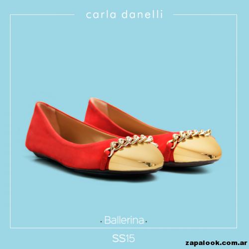 balerina roja con puntera dorada - Carla danelli verano 2015