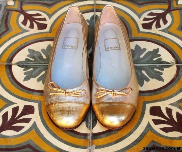 balerinas doradas Tosone primavera verano 2015