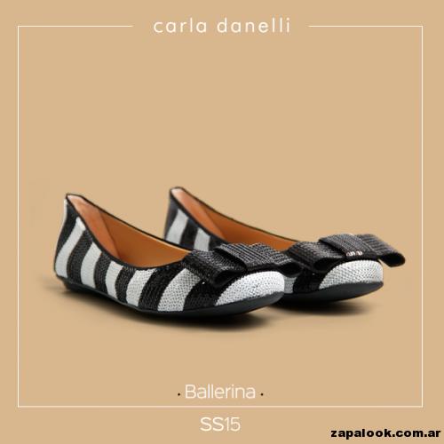 ballerinas blanca y negra con moño - Carla danelli verano 2015