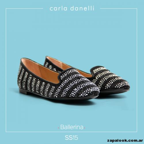 ballerinas negras y doradas - Carla danelli verano 2015