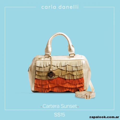 cartera con flecos naranjas - Carla danelli verano 2015
