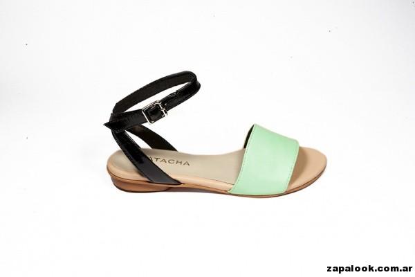 chatita color verde menta Natacha calzados 2015
