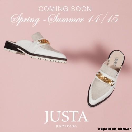 mocasines blanco con punta  Justa Osadia primavera verano 2015