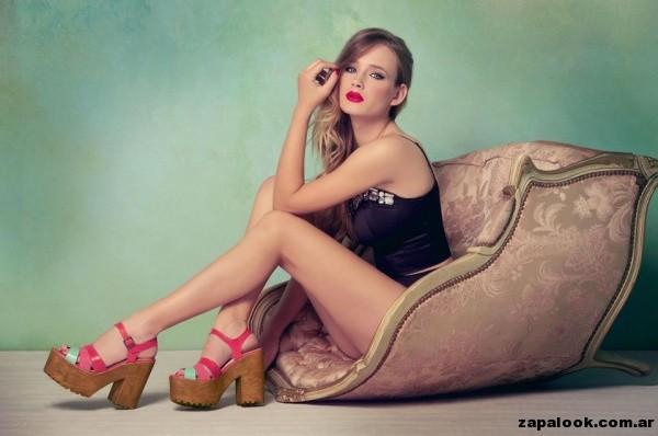 plataformas de madera - Lady Stork primavera verano 2015