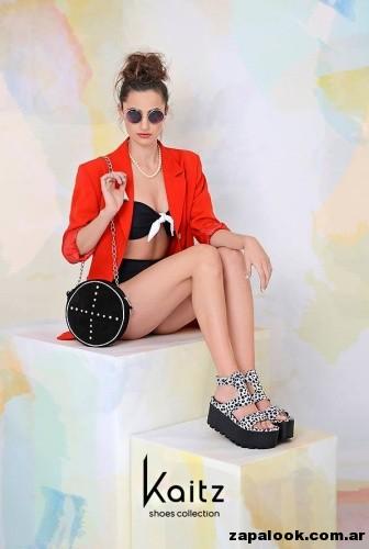 sandalia blanca y negras calzado kaitz primavera verano 2015