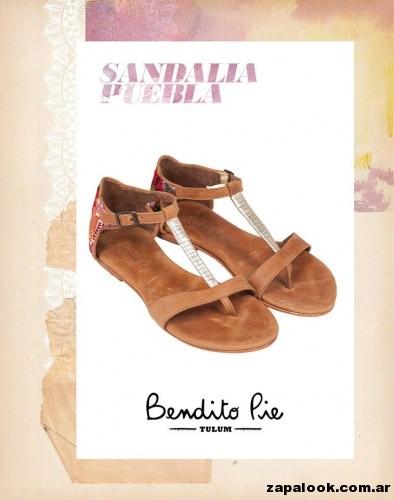 sandalia estilo ojotas de cuero  by Bendito Pie Verano 2015