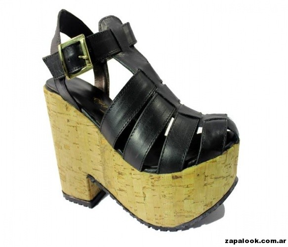sandalia franciscanas con plataformas Tops primavera verano 2015