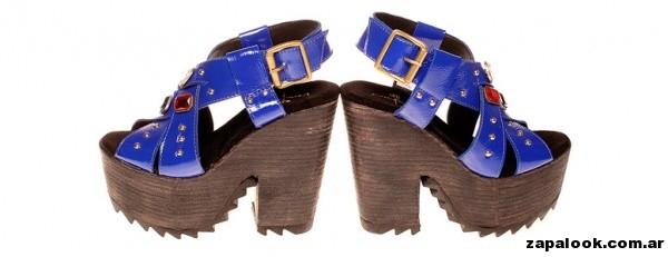 sandalias azules plataforma simil madera favio benchimol 2015