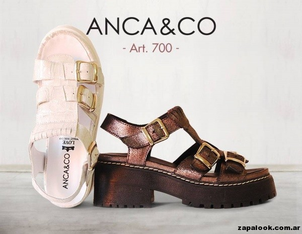 sandalias con hebillas Anca co primavera verano 2015