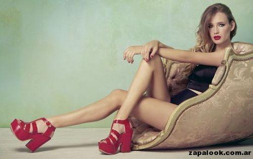 sandalias con plataformas rojas - Lady Stork primavera verano 2015