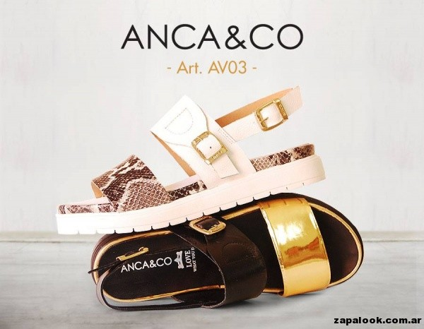 sandalias mix texturas Anca co primavera verano 2015