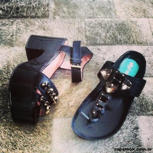 sandalias negras Sibyl Vane primavera verano 2015