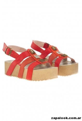 sandalias rojas Heyas primavera verano 2015