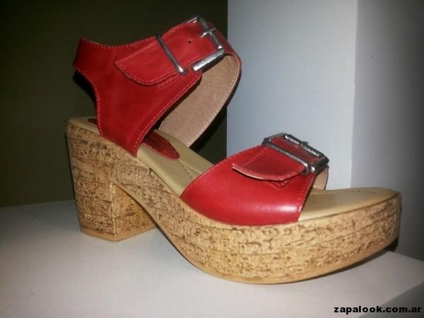 sandalias rojas gravagna verano 2015