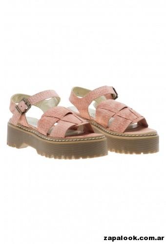 sandalias rosa con base de goma Viamo primavera verano 2015
