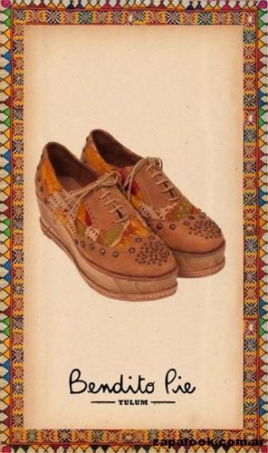 zapatos abotinados de cuero gamuzado  by Bendito Pie Verano 2015