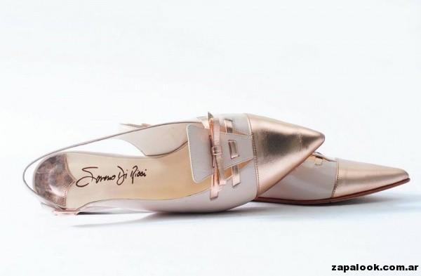 zapatos dorado y crudo Saverio Di Ricci primavera verano 2015
