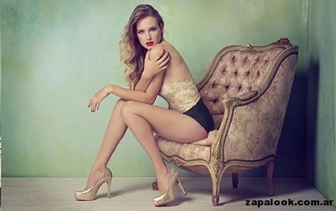 zapatos dorados - Lady Stork primavera verano 2015