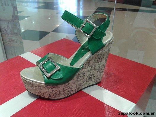 sandalia verde Chiarini verano 2015