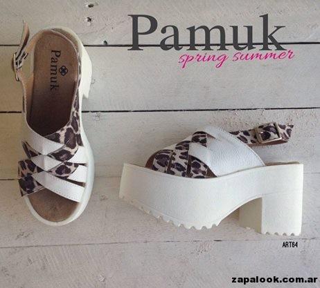 sandalias blancas y animal print - Pamuk verano 2015