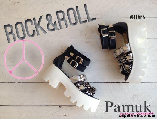 sandalias doradas y negras - Pamuk verano 2015