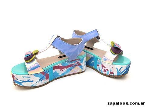 sandalias multicolor  - Luz Principe primavera verano 2015