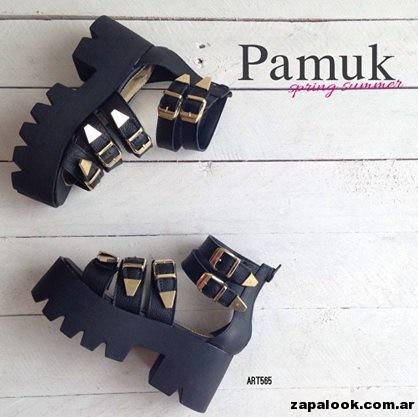 sandalias negras con hebillas - Pamuk verano 2015