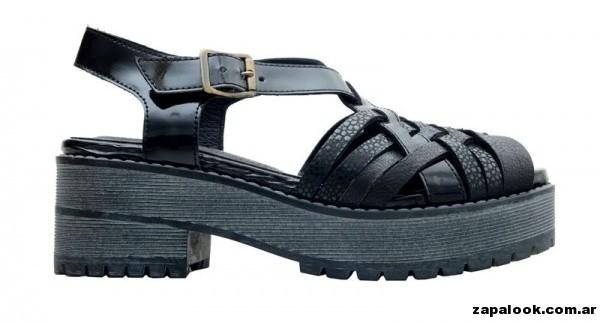 sandalias negras cruzadas primavera verano 2015 - America Pie